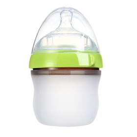 Matyz Breastmilk Feeding Baby Bottles - Anti Colic Newborn Infant Bottles (1 PC, 5oz, Green) - Ultra Wide Neck Bottle Easy to Clean - Easy Latch Nipples - BPA Free
